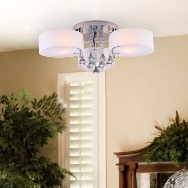 Pendant Crystal Ceiling Lamp with 3 Lights