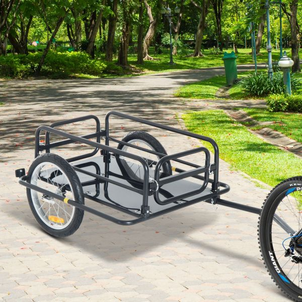 Homcom Folding Bike Trailer in Black