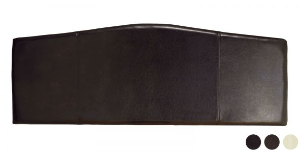 Rosa Faux Leather Curved Headboard - 5 Sizes - Black, Brown or Cream