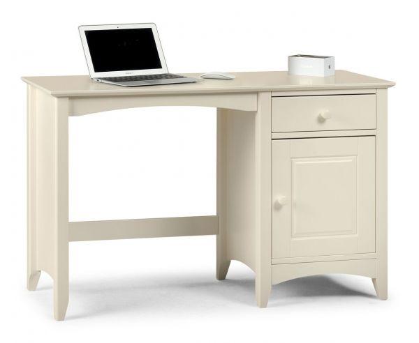 Julian Bowen Cameo Stone White Computer Desk