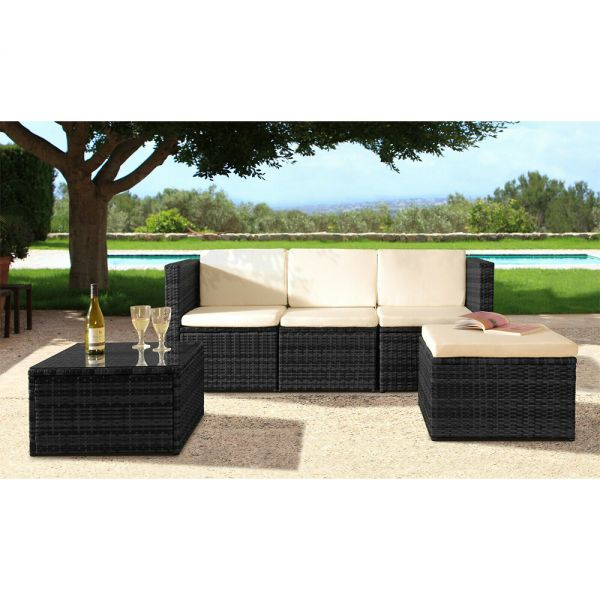 Rattan 3 Piece Garden Furniture Set - 4 Colours