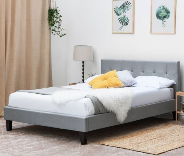 Blenheim Grey Fabric Bed - King
