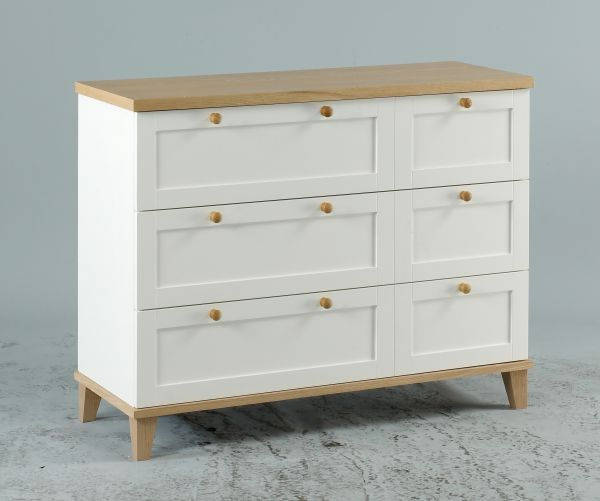 LPD Boston 3 Drawer Storage Chest - White
