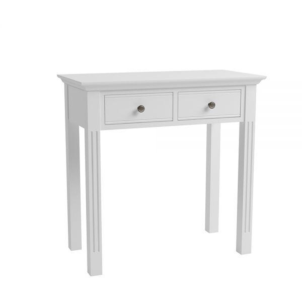 Modern 2 Drawers Dressing Table - White