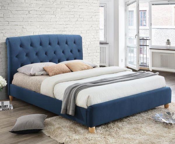 Birlea Brompton Midnight Blue Fabric Bed Frame