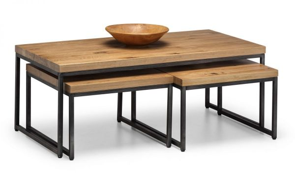 Julian Bowen Brooklyn Nesting Coffee Tables - Oak