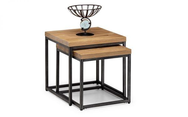 Julian Bowen Brooklyn Nesting Lamp Tables - Oak