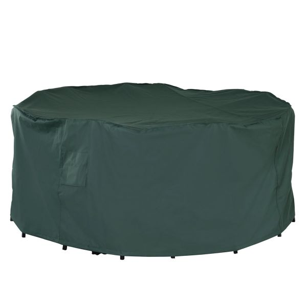 Outsunny PVC Coated Large Round 600D Waterproof Outdoor Furniture Cover - Green