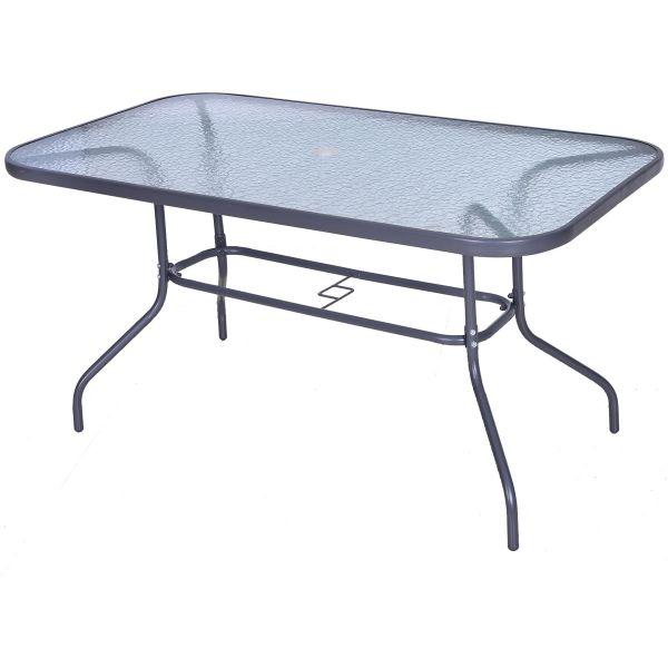 Outsunny Aquatex Glass Garden Table - Grey