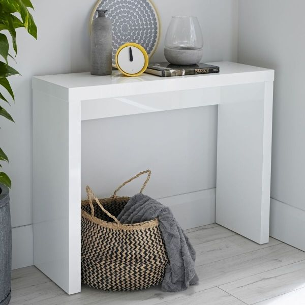 LPD Puro Gloss Console Table - Cream, Stone, Charcoal or White