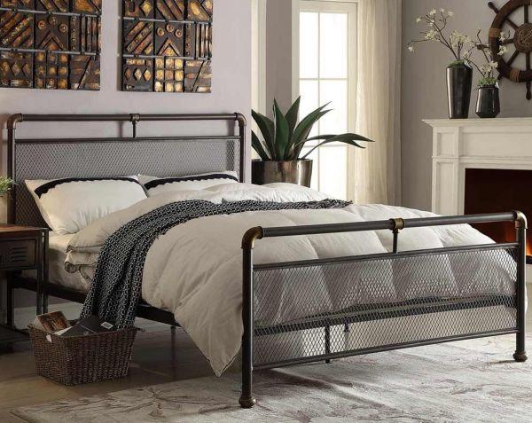 Cambridge Industrial Scaffold Metal Bed - Double
