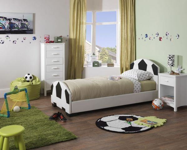 Pallone Single Faux Leather Football Bed