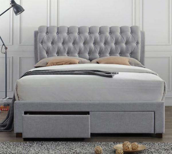 Birlea Valentino Fabric 2 Drawer Storage Bed Frame