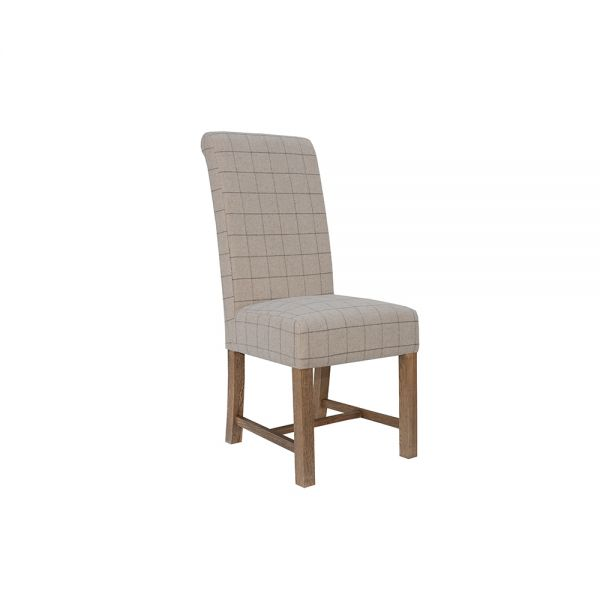 Modern Woolen Upholstered Dining Chair - Natural
