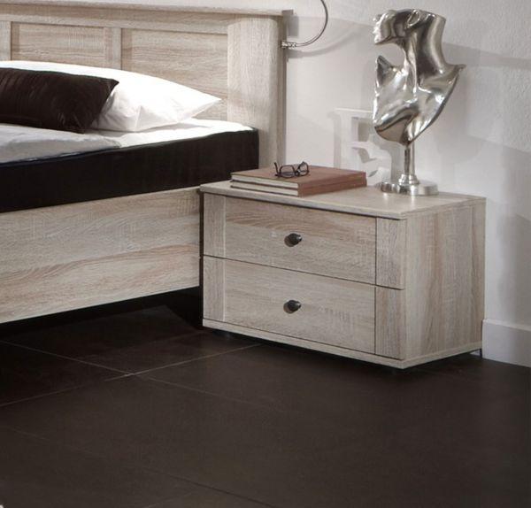 Chalet 2-Drawer Bedside Chest - Oak