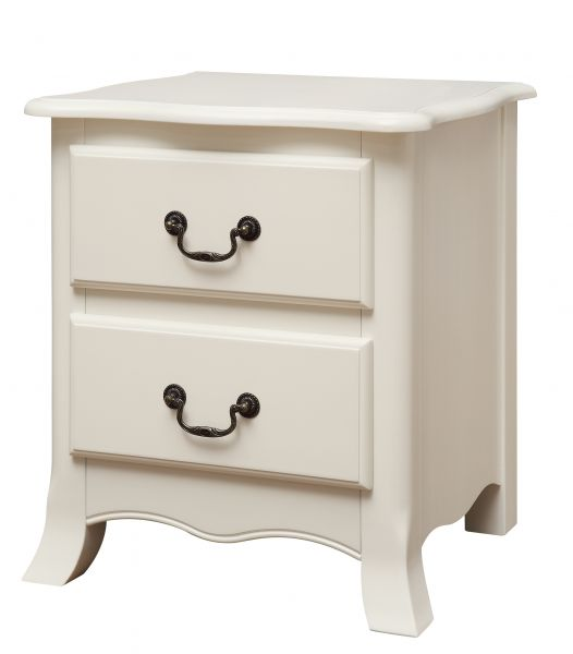 LPD Chantily 2 Drawer Bedside Cabinet - White