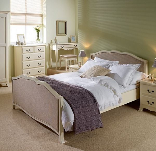 LPD Chantily Elegant White Bed Frame - Double or King