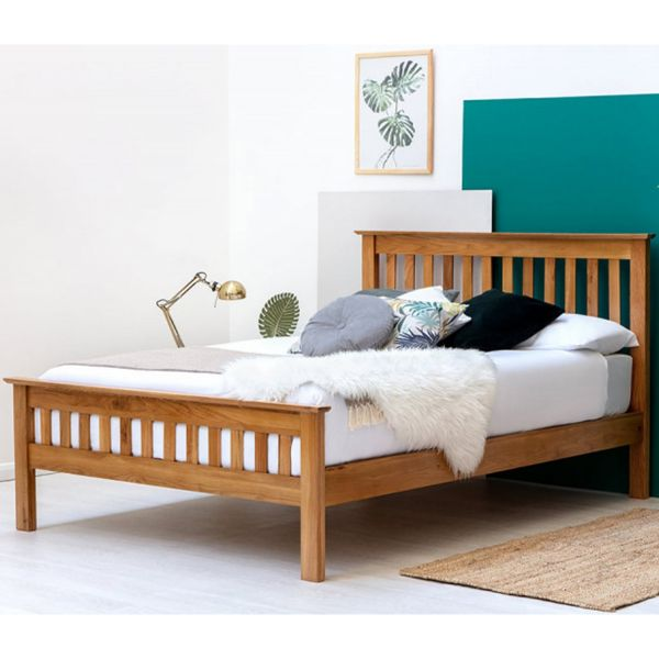 Chelford Solid Farmhouse Oak Wooden Bed Frame - 2 Sizes