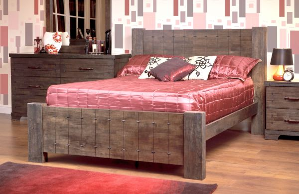 Sweet Dreams Chopin Brown Wood Bed Frame - Double or King