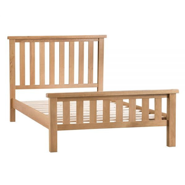 Classic 4FT6 Double Bed Frame - Medium Oak Finish