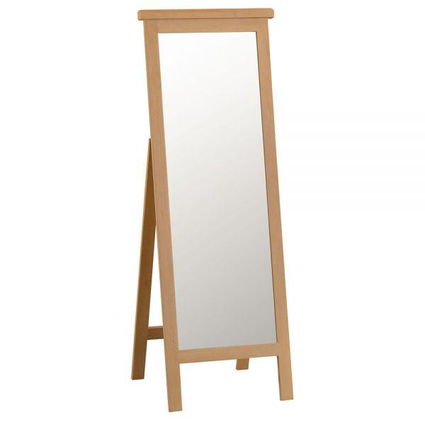 Classic Cheval Mirror - Medium Oak Finish