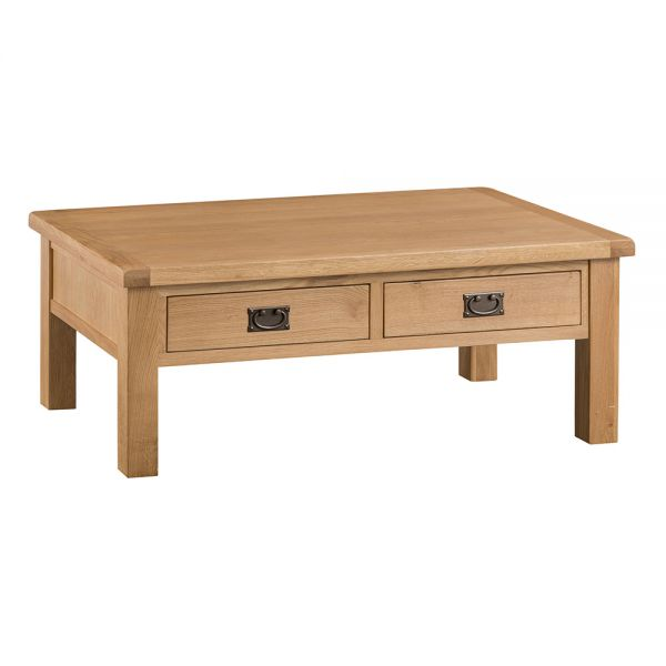 Classic Large Coffee Table - Medium Oak Finish