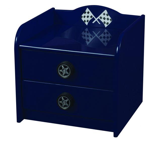 Sweet Dreams Formula Kid's 2-Drawer Bedside Cabinet - Red or Blue