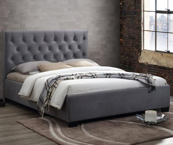 Birlea Cologne Grey Fabric Bed Frame