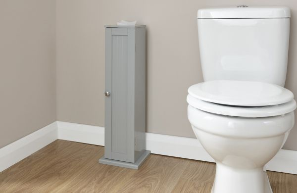 Colonial Toilet Roll Cupboard - Grey or White