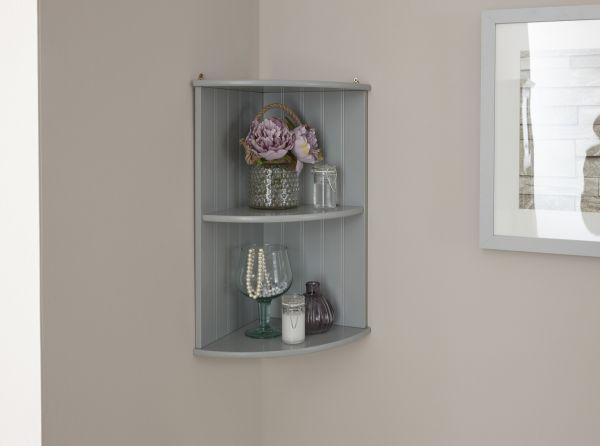 Colonial Corner Wall Shelf Unit - Grey or White