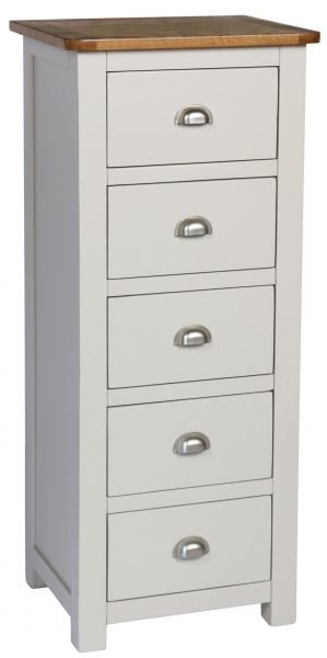 Sweet Dreams Cooper Pale Grey 5-Drawer Tallboy Chest