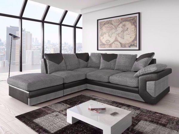 Dino Jumbo Cord Corner Sofa Suite