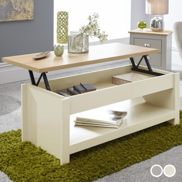 Lancaster Lift Up Coffee Table - 2 Colours