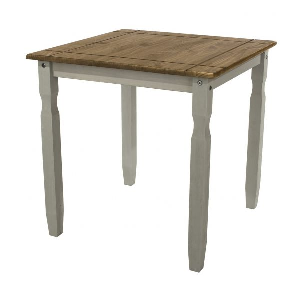 Corona Solid Pine Square Dining Table - Pine or Grey