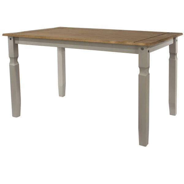 Corona 150cm Pine Rectangular Dining Table - Pine or Grey