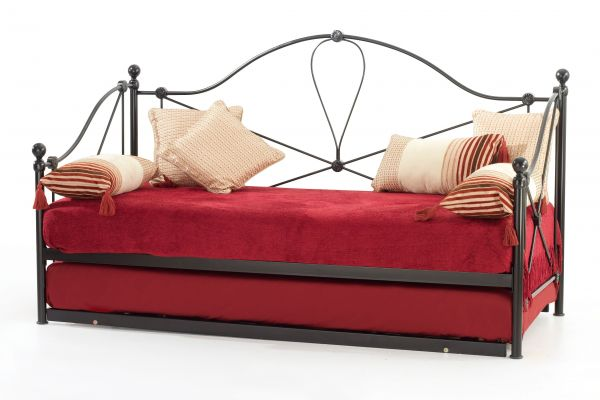 Lyon Classic Metal Day Bed & Guest Bed - Ivory or Black