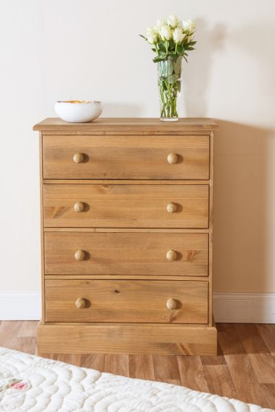 Cotswold Pine 4-Drawer Storage Chest