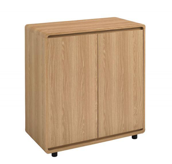 LPD Curve Compact 2 Door Sideboard - Oak