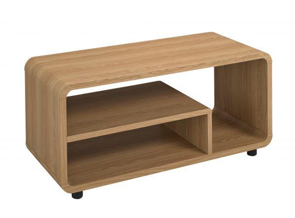 LPD Curve TV Stand Unit - Oak