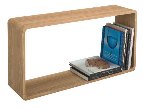 LPD Curve Wall Display Shelf - Oak