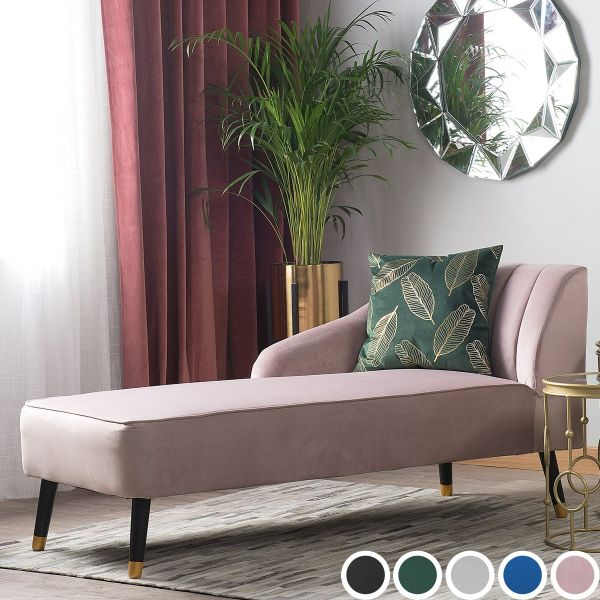 Lasvig Velvet Chaise Longue - 5 Colours