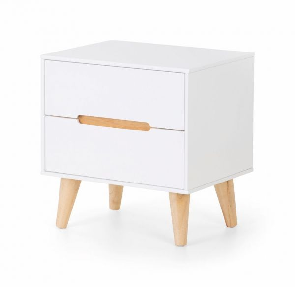 Julian Bowen Alicia 2-Drawer Bedside Table