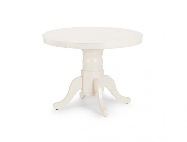 Julian Bowen Stamford Ivory Round Extending Dining Table