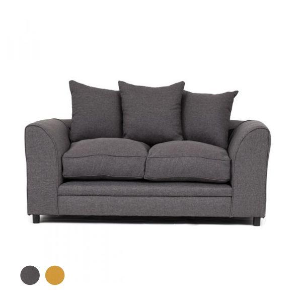 Dorota II Fabric 2 Seater Sofa - Dark Grey