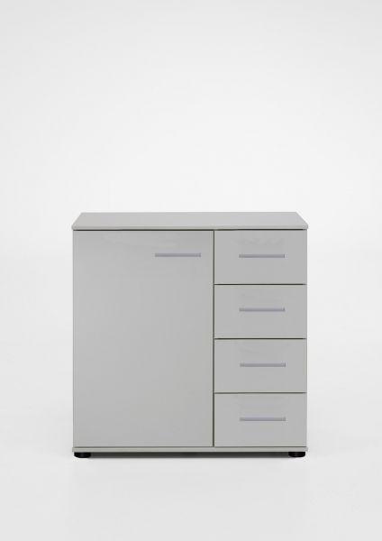 Davos 1-Door 4-Drawer Storage Chest - White