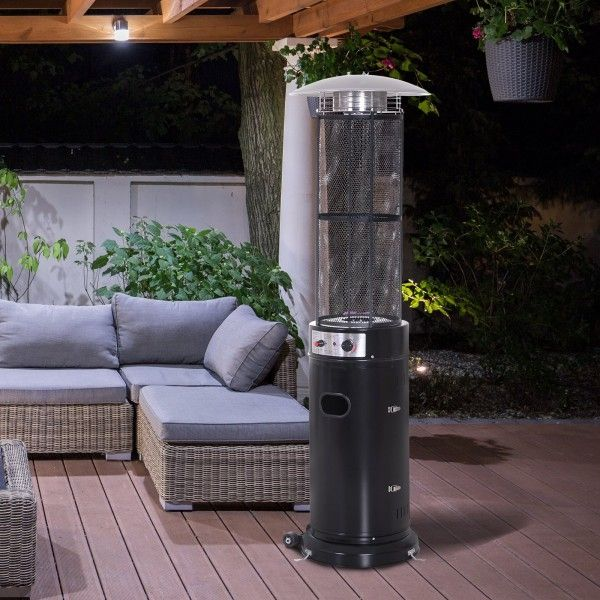 Outsunny 11KW Standing Patio Electronic Gas Heater