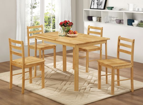 LPD Derby Dining Table & Chairs Set - Oak