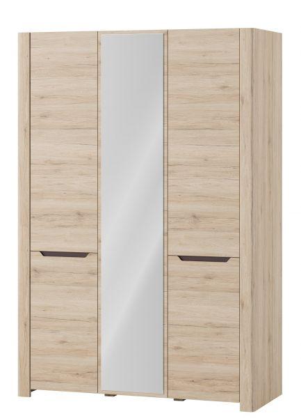 Demir-II 3-Door Wardrobe - San Remo Oak