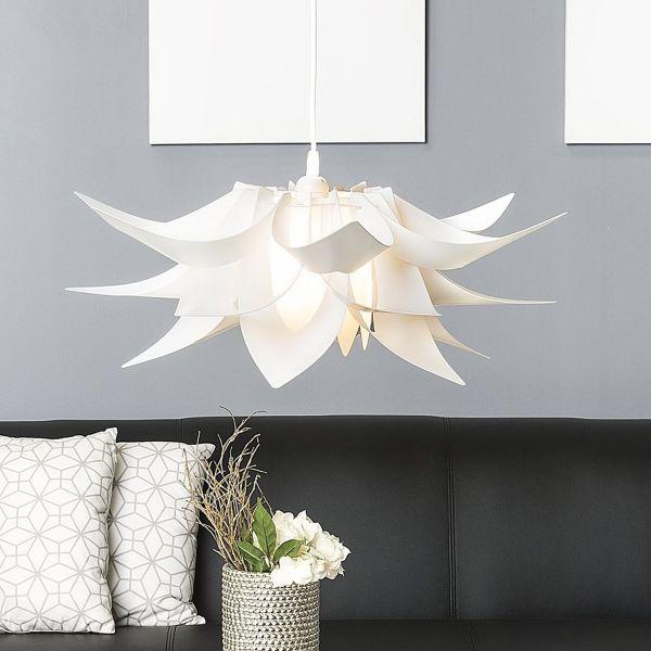 Alva Modern Leaf Pendant Lamp - White