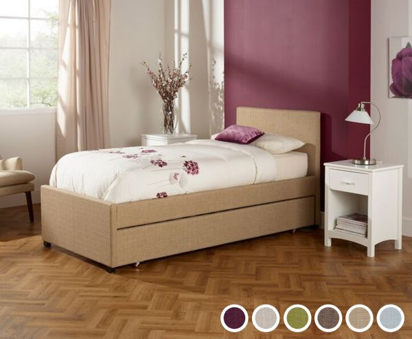 Lily Single Fabric Bed & Underbed - 6 Colours